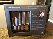 Tramontina 5-piece Professional Forged Cutlery Knife Set W Magnetic Slots Tray
