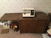 Antique Vintage Kenmore Electronic Sewing Machine Cabinet Table 110v