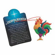 3 Legend Of The Rooster Ornament Card Christmas Tree Decoration Hispanic Mexican