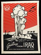 Shepard Fairey Signandeacutee Greetings From Iraq Large Format Sandeacuterigraphie Obey Giant