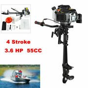 4 Stroke 3.6 Hp Outboard Motor 55cc Boat Engine Air Cooling System 1.8l Tank
