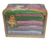 Hey Diddle Diddle Cassette Tape Set Of 4 New Sealed Wood Crate Rare Mother Goose