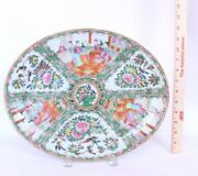 Antique Large Rose Medallion Chinese Decorative Hand Painted Collectors Platter