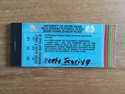 Notre Dame Football Student Ticket Book 2010 Complete And Unused 7 Home Games