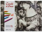 Cont Paris Pastel Pencils With 48 Assorted Colors From Japan