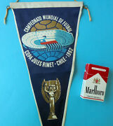 Fifa World Cup Chile 1962 - Original Vintage Football Soccer Pennant Very Large