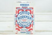 Vintage 5 Nos 1930s Union Workman Chewing Tobacco Advertising Bag Heavy Paper