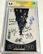 Cgc 9.8 Ss Star Wars Rogue One Adaptation 1 Variant Signed Jones Whitaker +4