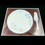 Villeroy And Boch Riviera Cake Plate And Server 11.75 New Never Used No Box