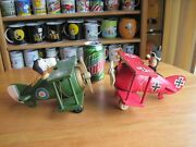 Snoopy / Peanuts Schmid Snoopy And Red Baron Wooden Plains Music Boxs Vintage