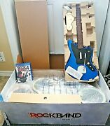 Rock Band 4 Ps4 Ps5 Bundle Drums Guitar Jaguar Blue Wireless Like New In A Box