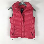 The 700 Fill Goose Down Pink Puffer Vest Womenand039s Size Xs 199