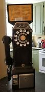Vintage Authentic Rotary Dial 3-slot Pay Phone - In Working Order