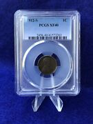 1912-s Lincoln Cent 1c Wheat Penny Pcgs Xf40 Extremely Fine