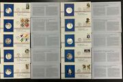 1978 1979 1980 Postmasters Of America Stamp And Coin Set Sterling Silver
