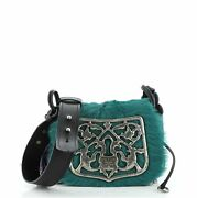 Prada Corsaire Shoulder Bag Calf Hair And Quilted Velvet Small