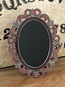 Oval Black Scrying Mirror Divination Clairvoyance Fortune Telling Ooak Ruby
