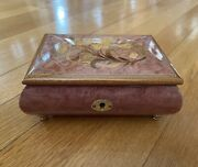 Reuge Jewelry Music Box Inlaid Wood Italy Swiss Movement - Wind Beneath My Wings