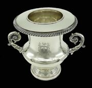 Superb Early 1800s English Cowie Co Silverplate Wine Cooler Champagne Bucket