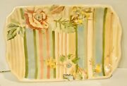 Tracy Porter Amourette Collection Find Your Bliss 12.5andrdquo Platter Hand Painted Euc