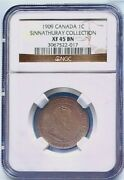1909 Canada Kg V Ngc Xf 45 Bn 1 Cent