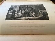 William Hogarth, 1833 Antique Print - The Country Inn Yard Or The Stage Coach