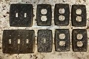 Vintage Holton Brass Ornate Outlet Covers Light Switch Plates - 8