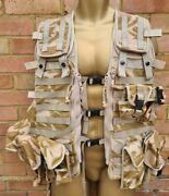 Genuine British Army Military Vest Tactical Load Carrying Desert With Pouches
