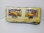 Off Road Racing High Intensity Louvered Auxiliary Amber Fog Lights Brackets Nos