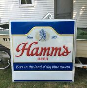 Vintage Hamm's Beer Sign Large 5' X 5' No Frame Or Lights Local Pu Or Freight