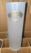 Baileys Iced Cappuccino Tall Frosted Glasses Gold Lettering Lot Of 24pc.