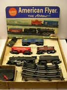 20605 American Flyer The Arrow Freight Set In Original Box [lot 10-s32]