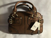 New With Tags Etienne Aigner Large Purse Satchel Bag And Box Genuine Leather