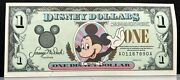 1996 1 Disney Dollars Mickey Mouse A01167890a Uncirculated Dlr