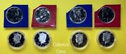 2012 And 2013 8 Kennedy Half Pdss Set Wclad And Silver Proofs In Holders And Mint Pd