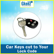Mazda Rx7 1978 - 1982 Keys Cut To Your Lock Code Series 2750 - 2999