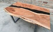 Handmade Epoxy Black River Acacia Center Conference Table Office Meeting Decors
