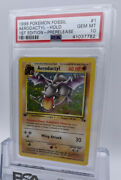 1st Edition Prerelease Gold Stamp Fossil Aerodactyl Holo 1/62 Psa 10 Gem Mint
