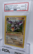 1st Edition Prerelease Brown Stamp Fossil Aerodactyl Holo 1/62 Psa 10 Gem Mint