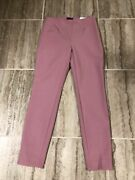 Nwt White House Black Market Comfort Stretch Flat-front Skinny Ankle Pants Pink