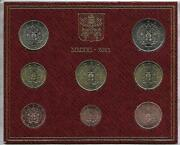 Vatican 2021 Coin Set Bu 1 Cents 2 Euro 3,88 The Coat Of Arms Of Pope Francis I.