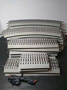 25 Pc Lot Lionel Fastrack O Gauge Track Straight, O-36 Curves, Power, Transition