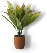 Fake Plants Floor Plants Artificial Topiary With Plant Pots Hosta For Home Offic