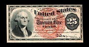 Fractional Currency 1863 Twenty Five Cent Cents Note Uncirculated Unc