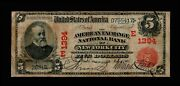 1902 5 Large Size Notes New York Red Seal National Banknotes