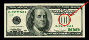 1999 100 Federal Reserve Note Missing Seal Error Rare