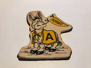 Vintage Army West Point Mule Donkey Magnet Team Democrate Military Htf Souvenir