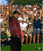 Tiger Woods Autographed 20 X 24 2001 Masters Photograph Upper Deck