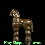 22 Western Art Bronze Copper Marble Base Abstract Horse Lucky Sculpture