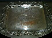 Antique Platter 1836 Horse Equestrian Trophy Saddle And Bridle Club Inc Jumpers